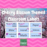 Cherry Blossom Themed Classroom Labels