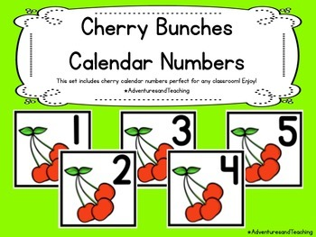 Cherry Bunches Calendar Numbers