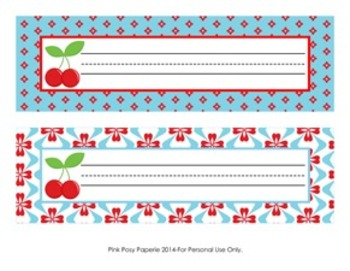 Cherry Classroom Decor Desk Name Plates