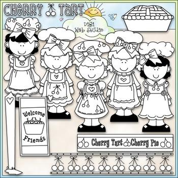 Cherry Cuties Clip Art - Girls Clip Art - CU Clip Art & B&W