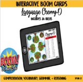 Cherry-O Interactive Boom Card Game for Language with Spinner