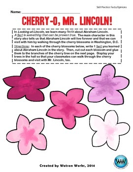 Cherry-O, Mr. Lincoln!  A Fact/Opinion Activity
