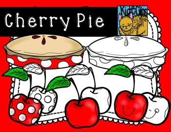 Cherry Pie Cherry Fruit Clip Art Kid-E-Clips Commercial and Personal Use