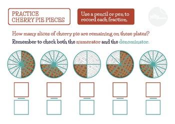 Cherry Pie Pieces: Recording Basic Fractions