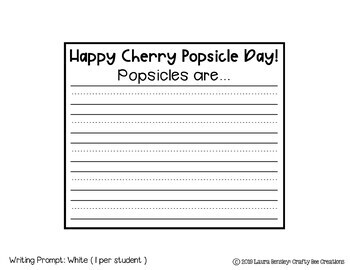 Cherry Popsicle Craft {This Year is Going to be so Cool}