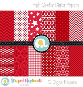 Cherry Red Digital Papers