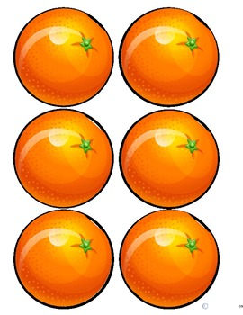Cherry and Orange Fractions Cut and Paste for Autism
