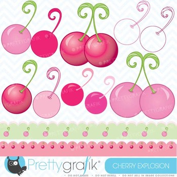 Cherry clipart commercial use, vector graphics, digital clip art - CL393