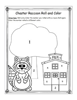 Cherster Raccoon Roll and Color Freebie (K.CC.4)