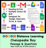 Chesapeake Bay Google Doc Article & Questions Distance Learning Friendly