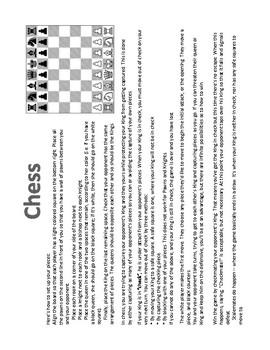 Chess Cheat Sheet By Bobi S Stars Teachers Pay Teachers