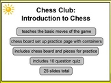Chess Club Intro to Chess 1st - HS Promethean ActivInspire Flipchart Lesson