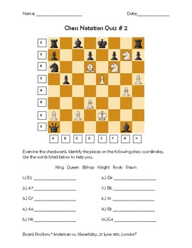 Chess Notation Quiz #2