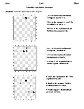 Chess Piece Movement Worksheet