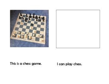 Chess Pieces Picture Book