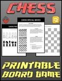 Chess Printable Board Game (Editable Google Slides)