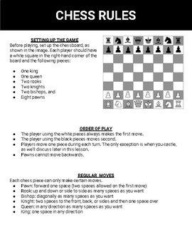 photo regarding Printable Chess Rules identify Chess Printable Board Activity (Editable Google Slides)