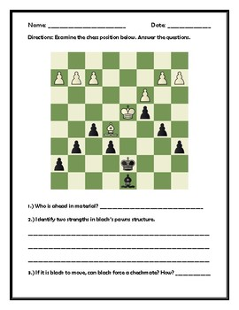 Chess Puzzle and Questions.