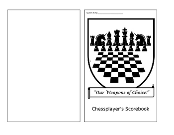 Chess Score Sheet Booklet
