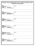 Chess Track Sheet