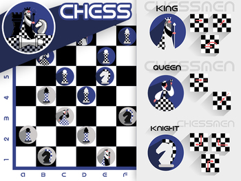 Chess game with stylish pieces