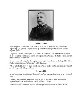 Chester A. Arthur - A Short Biography for Kids (includes review quiz)