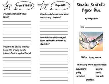 Chester Cricket's Pigeon Ride Trifold - Storytown 5th Grad