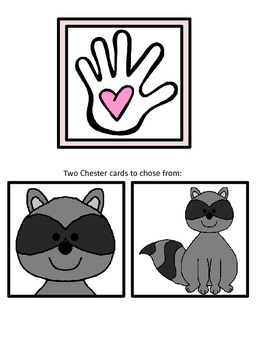 Chester Raccoon Colored Hand Activity