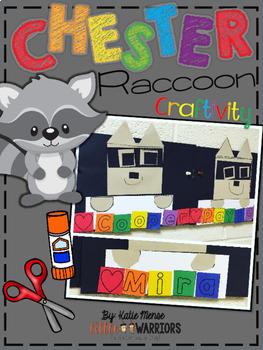 Chester Raccoon Name Craftivity