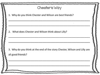 Chester's Way     49 pgs of Common Core Activities.