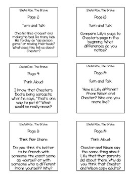 Chester's Way Interactive Read Aloud Sticky Note Questions