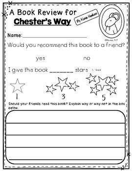 Chester's Way: Retelling Sticks
