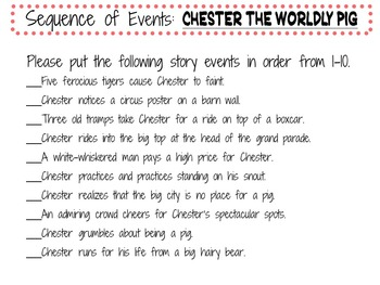 Chester the Worldly Pig by Bill Peet:   A Complete Literature Study!