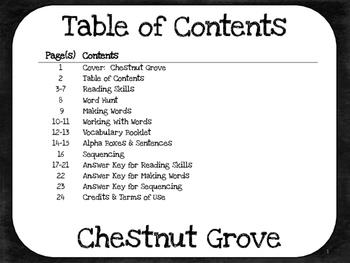 Chestnut Cove  3rd Grade  Harcourt Storytown Lesson 23