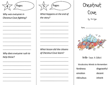 Chestnut Cove Trifold - Storytown 3rd Grade Unit 5 Week 3