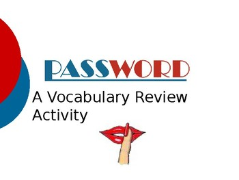 Chestnut Cove - Vocabulary Password