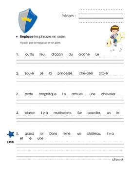 Chevaliers - phrases