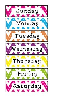 Chevron Days of the Week Freebie