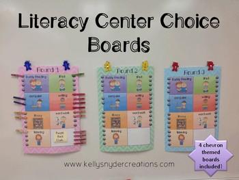 Cheveron Literacy Center Choice Boards