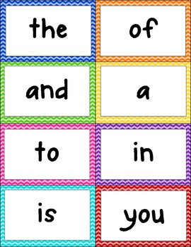 Cheveron Word Wall Words