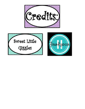 Cheveron and Solid Glitter  Word Wall Cards