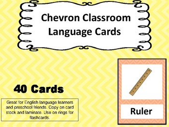Chevon Language Flashcards 40 Classroom Words with Pictures