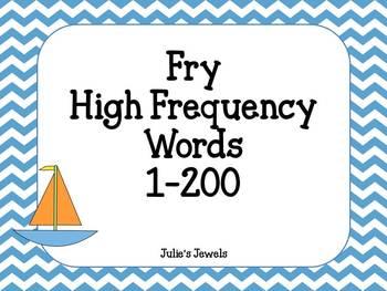 Chevon Sailboat Fry Words 1-200