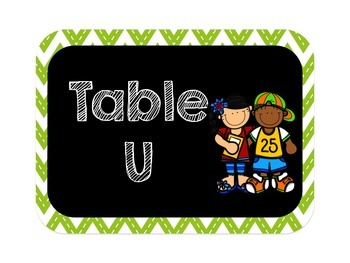 Chevron Vowel Table Signs