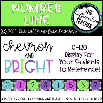 Chevon and BRIGHT Number Line 0-120