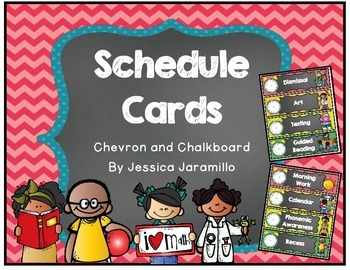 Chevorn and Chalkboard Schedule Cards