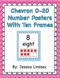Chevron 0-20 Number Posters w/ Ten Frames