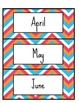 Chevron 12 Month Calender Cards