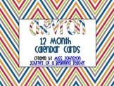 Chevron 12 Month Calender Cards {creative teaching press chevron}