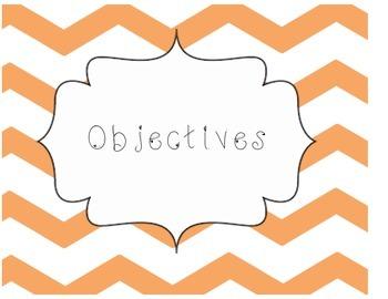 Chevron Objective Sheets